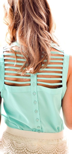 Ladder back blouse