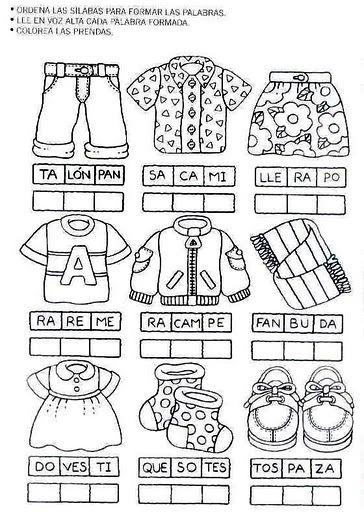 actividades escolares  para comenzar co la lectoescritura