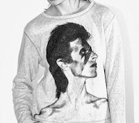t-shirt et pull Maje portrait david Bowie