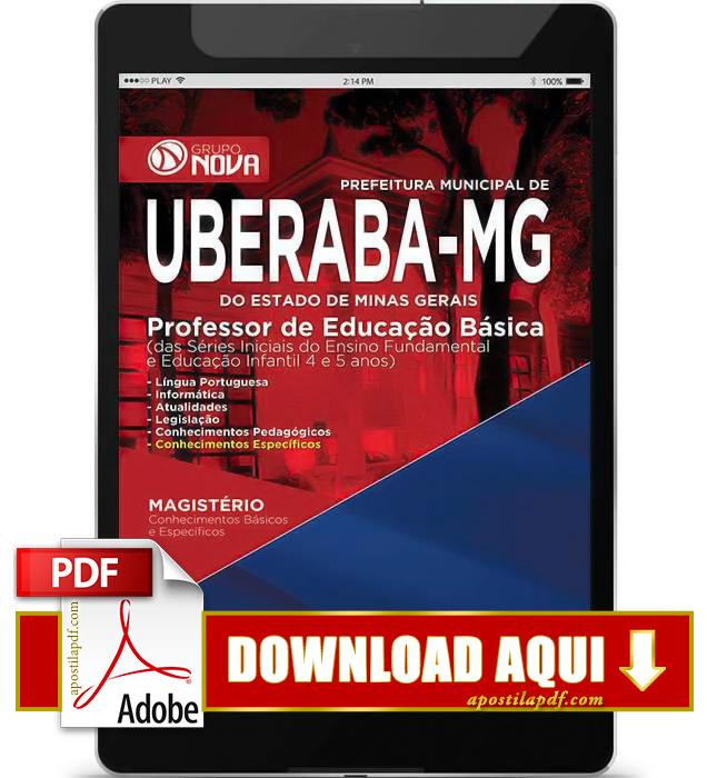 Apostila Uberaba MG 2015 Professor de Educação Básica PDF Download
