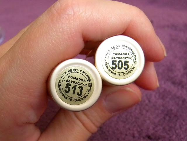 Nawilżjąa pomadka-błyszczyk Celi 505 i 513