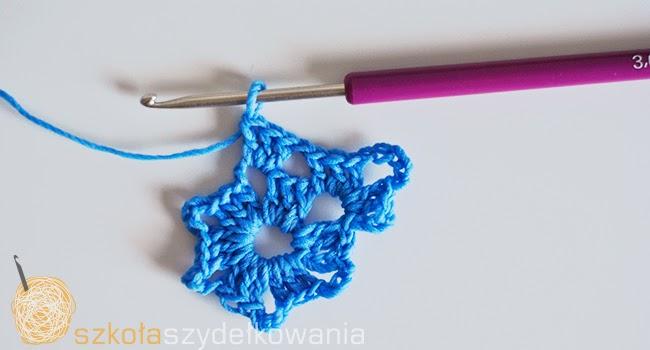 śnieżynka na szydełku, gwiazdka na szydełku, crochet snowflake