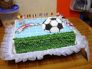 Kue Ulang Tahun Anak Laki-Laki Tema Lapangan Bola