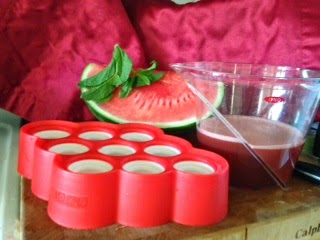 watermelon mint popsicles -  creative and crafty events