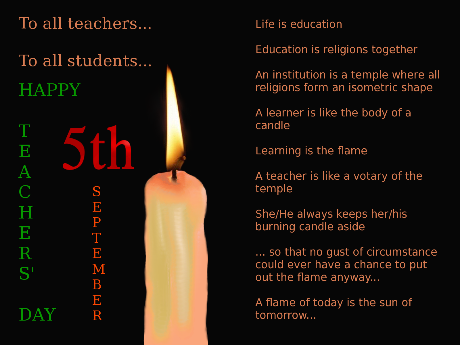 Happy Teachers Day 2014