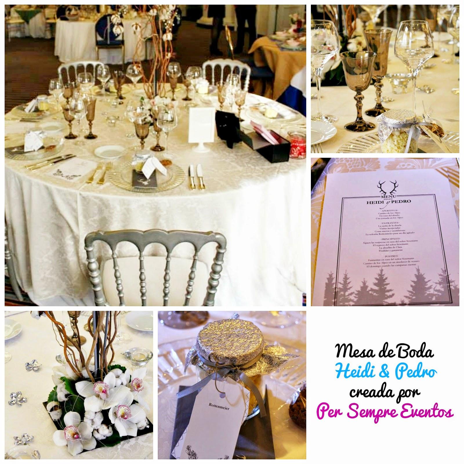 Exhibicion Mesas Banquete Boda decoradas por Wedding Planners Madrid
