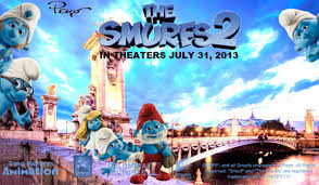 The Smurfs 2 movie poster.