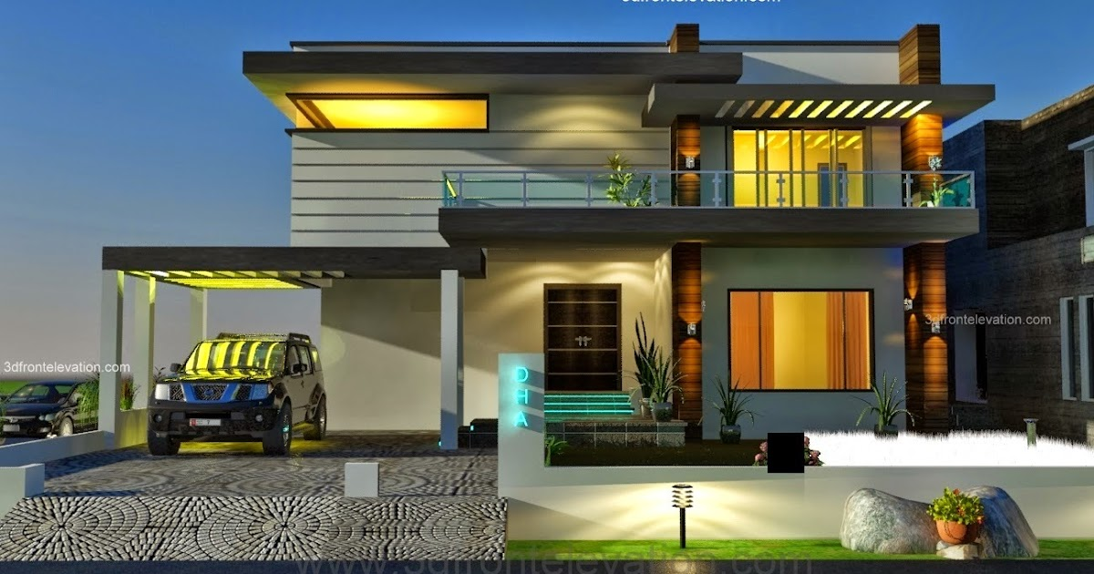 Front Elevation Designer In Bhopal : D front elevation kanal dha karachi modern