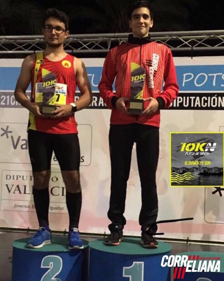 XAVI PONS RUBIO, 1º JUNIOR 10K GANDIA 2018