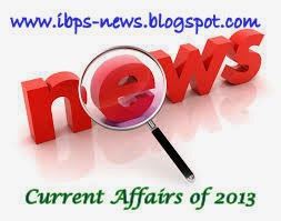 2013 current affairs