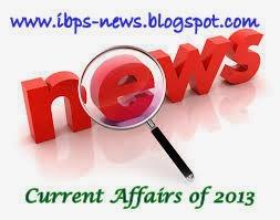 2013 current affairs