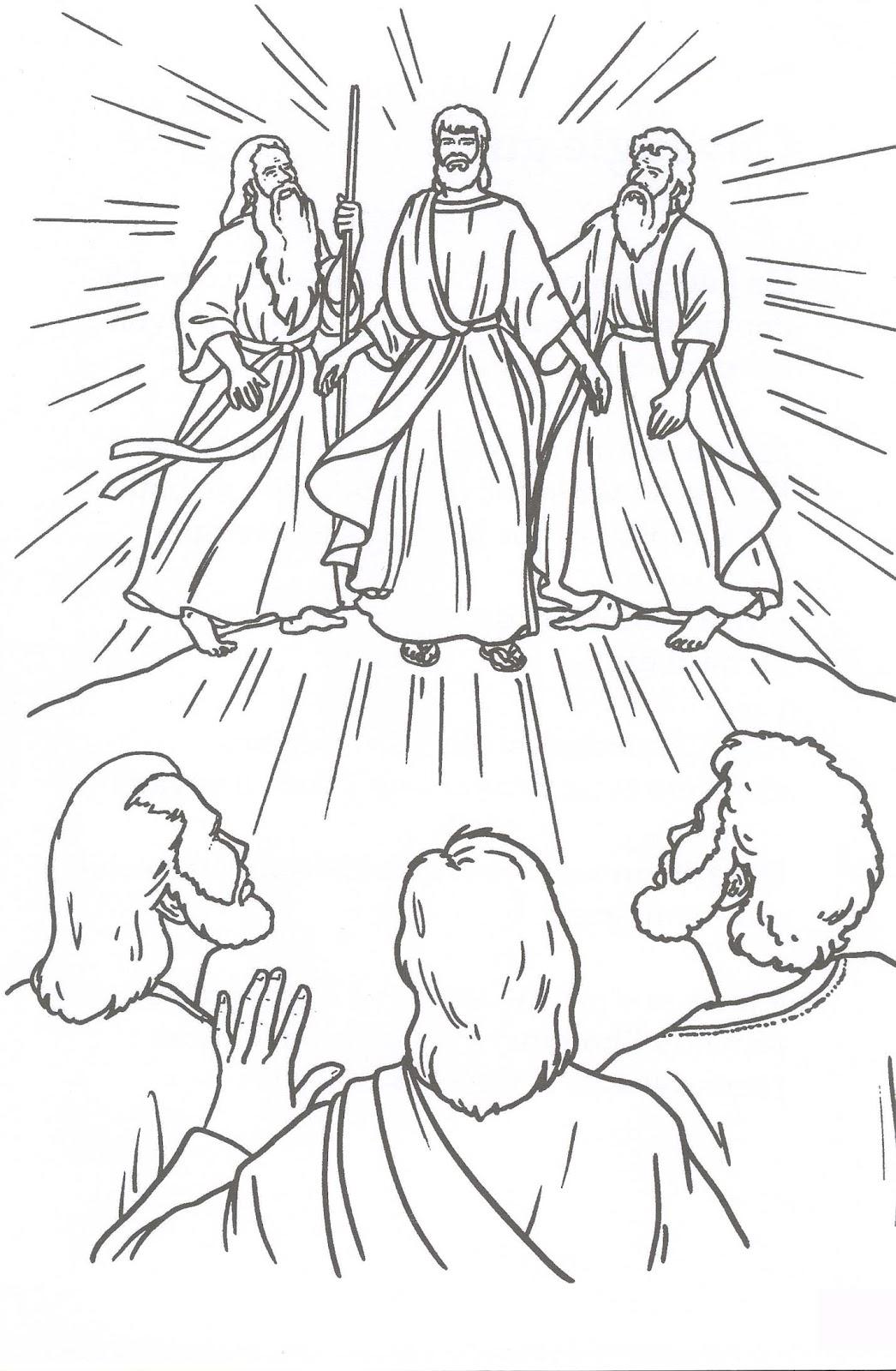 Peques Y Pecas Colorea La Transfiguraci 211 N De Jes 218 S