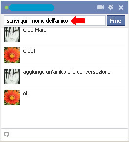 Amici chat facebook