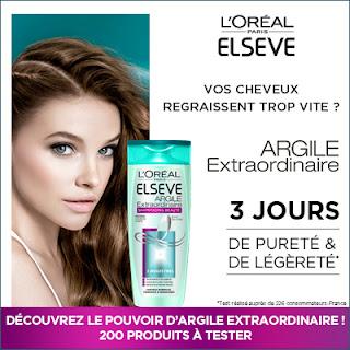 Test Produit 200 Shampooing ELSEVE Argile Extraordinaire L'Oréal à tester !