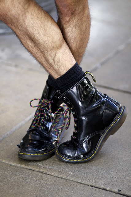 Black Patent Leather Doc Martens Seattle Street Style Fashion Justin Mounkes It's My Darlin' Crazy shoelace