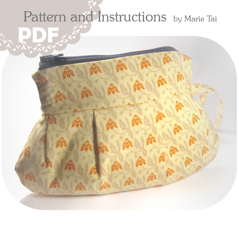 Pleated Pouch PDF Pattern