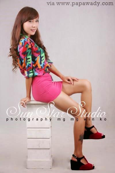 Myanmar Model - Pan Pan in Beautiful Studio Photoshoot