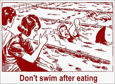 Don't swim after eating