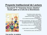 Proyecto institucional de lectura