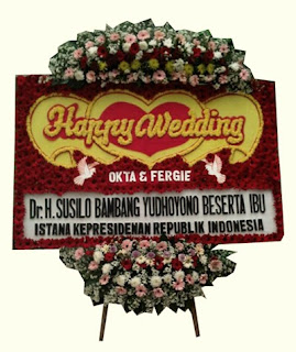 Bunga Papan Pernikahan Balai Sudirman