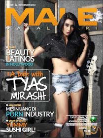 Foto Panas Tyas Mirasih di Majalah Male