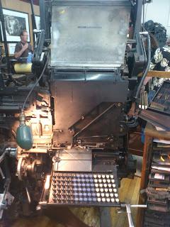 Linotype (ライノタイプ)自動鋳植機