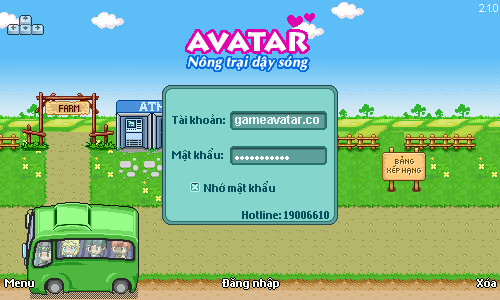 choi avatar 210 tren may tinh-