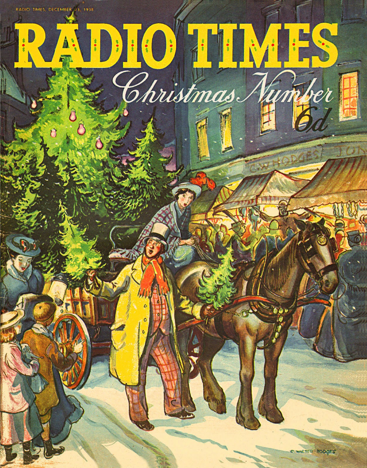 All About London Radio Times Christmas Cover 1938