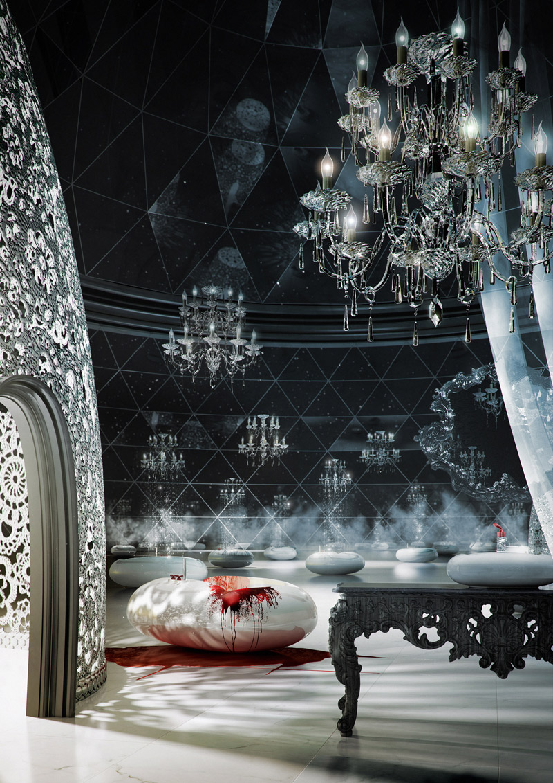 The Marcel Wanders Bath Collection For Bisazza Combines