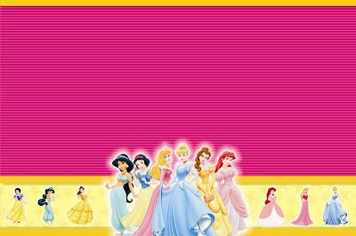 invitación cumpleaños princesas disney