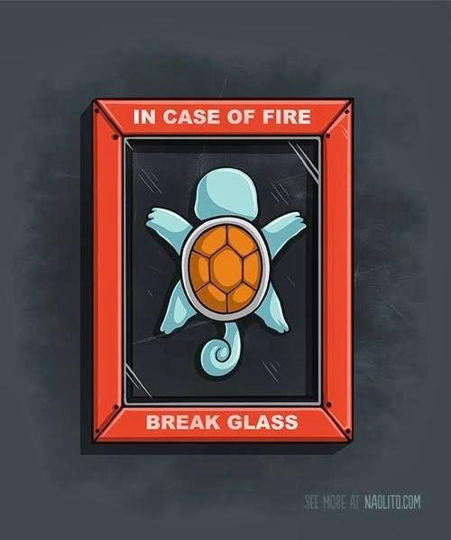 Squirtle en caso de incendio