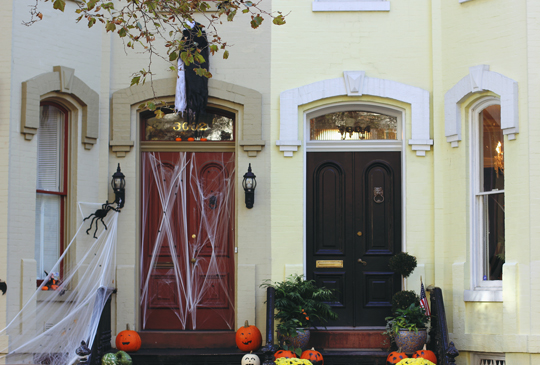 Halloween decorations in Georgetown, Washington, DC