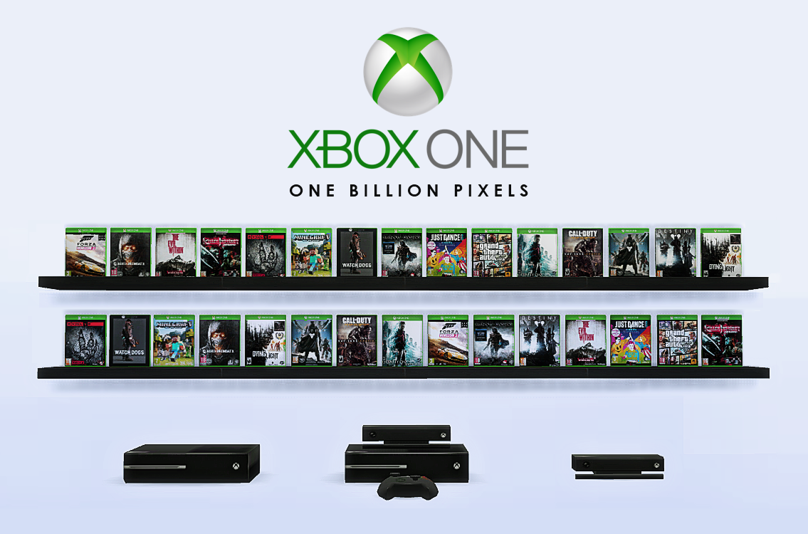 Xbox one games consoles decor clutter one billion pixels for All decoration games