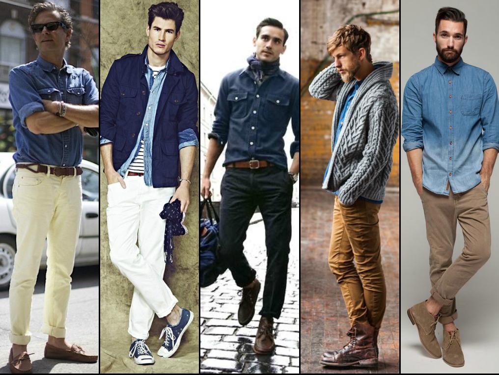 Camisas vaqueras para hombres Moda hombre - imagenes de camisas vaqueras para hombres