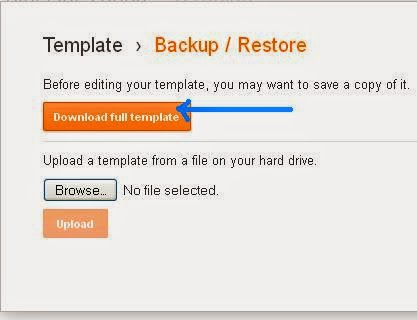 Backup and Restore of a Blog Template