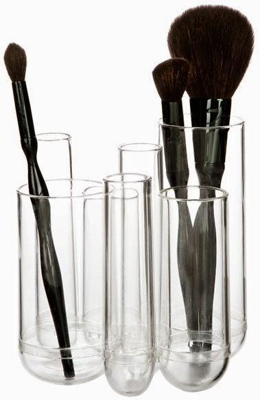 cosmetic brush organization