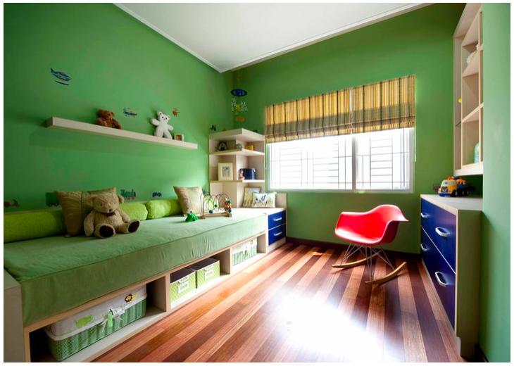 desain interior warna hijau chieraeray