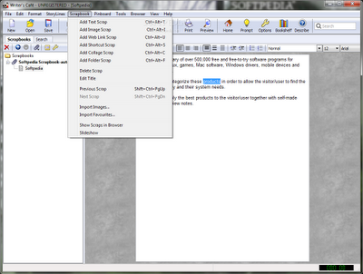 free Download Writer's Cafe Portable software