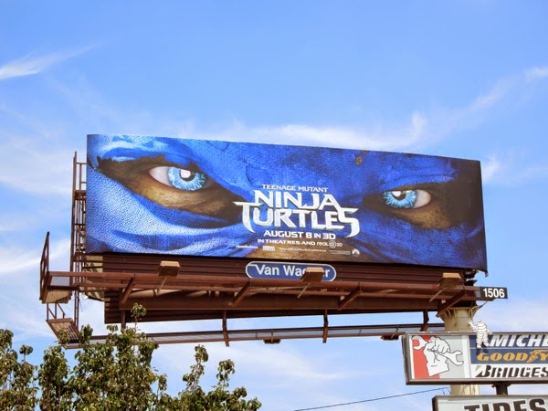 Teenage Mutant Ninja Turtles Leonardo mask billboard