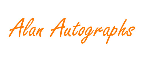 Alan Autographs