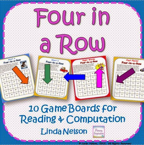 http://www.teacherspayteachers.com/Product/Four-in-a-Row-Reading-and-Math-Games-114000