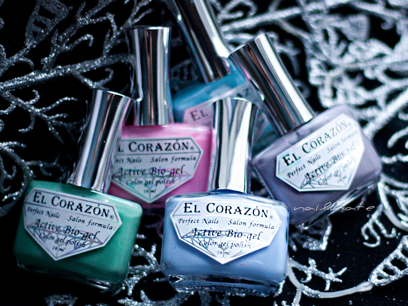 watercolour nail art EL Corazon active bio-gel jelly #423/42, #423/43, #423/44, #423/48, #423/61