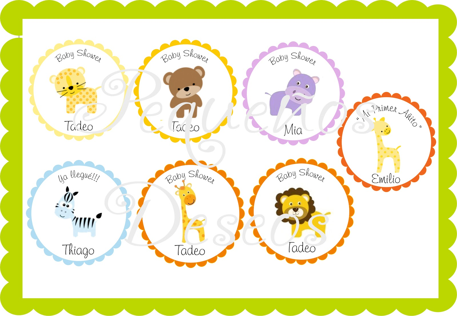 Animalitos para baby shower - Imagui