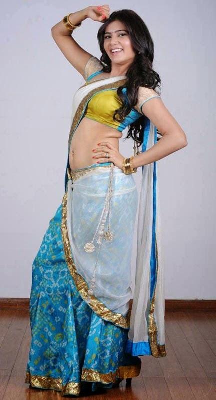 Samantha Tamil Girl Showing navel