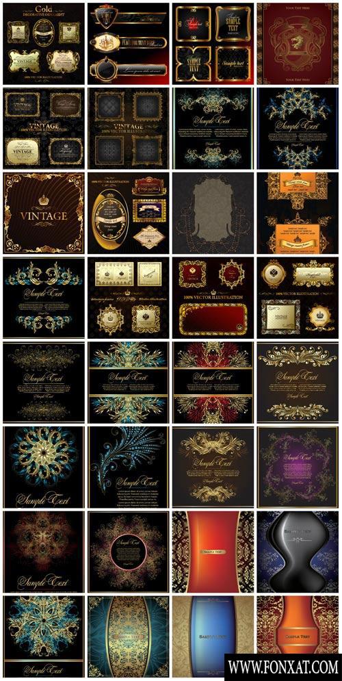 vector decoration مجموعة زخارف فيكتور رائعة مجموعة 9
