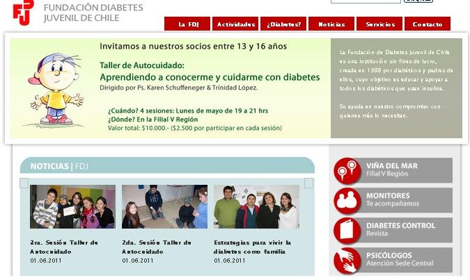 Recomendamos: Fundación Diabetes Juvenil Chile
