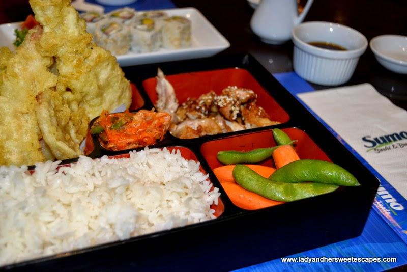 Sumo Sushi and Bento's tempura bento