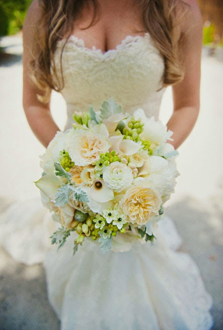 Blue And White Summer Wedding Bouquet