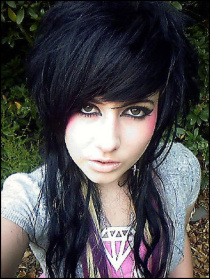 emo hairstyles for girls with long hair(01)