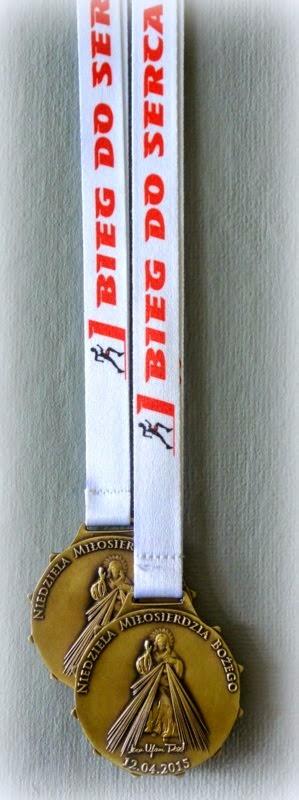 Medal I Biegu do Serca + wstążka